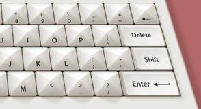 Tastatur mit Spitzen Stockbild