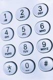 Tastatur mit Zahlen und Buchstaben Lizenzfreies Stockfoto