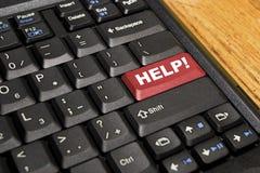 Tastatur mithilfe! Taste Lizenzfreie Stockfotos