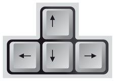 Tastatur, Pfeiltaste Stock Abbildung