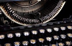Tastatur und kleine Teile einer Schreibmaschine Lizenzfreies Stockbild