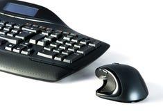 Tastatur und Maus auf weißem Hintergrund lizenzfreies stockfoto