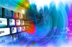 Tastatur und Platz Lizenzfreies Stockfoto