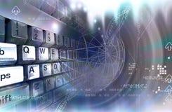 Tastatur und Platz Lizenzfreies Stockbild