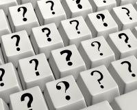 Tastatur vieler Fragen Stockbilder
