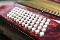 Tastatur von accordian Lizenzfreie Stockbilder