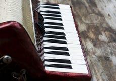 Tastatur von accordian Lizenzfreie Stockfotos