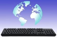 Tastatur worldmap Lizenzfreies Stockbild