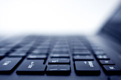 Tastaturnahaufnahme des Computers (Laptop) stockbilder