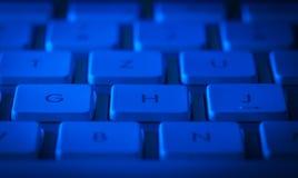 Tastaturnahaufnahme mit Kopienraum Stockfoto