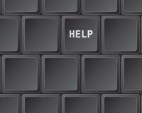 Tastaturpresse für Hilfe Stockfotografie