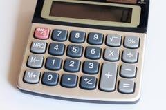 Tastaturtaschenrechner mit der Datenverarbeitung Stockbilder