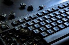 Tastaturzerstampfung Stockfotos