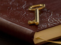 Taste auf dem Tagebuch Lizenzfreies Stockfoto