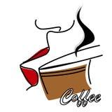 Taste coffee Royalty Free Stock Photos