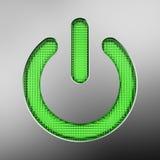 Taste der grünen Leistung vektor abbildung