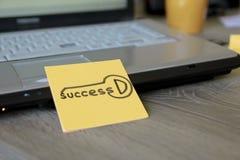 Taste des Erfolgs stockbild