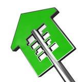 Taste des grünen Hauses vektor abbildung