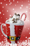 Christmas Hot Chocolate Drink Royalty Free Stock Photography