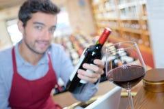 Taste great wine Royalty Free Stock Image