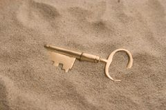 Taste im Sand Stockfotografie