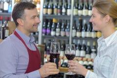 Taste local wine Stock Photos