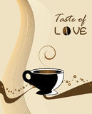 Taste of love. Illustration of a coffee cup - background Stock Photo
