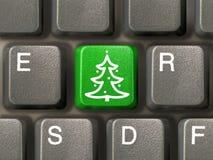 Taste mit Weihnachtsbaum Stockbild