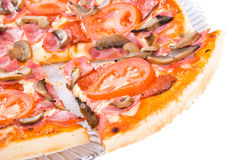 Taste! Pizza Primavera Royalty Free Stock Photos