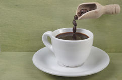 The taste of a real coffee. Royalty Free Stock Photo
