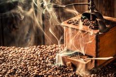 Taste of roasted ground coffee Stock Photos