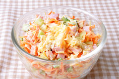 Taste salad Stock Photography