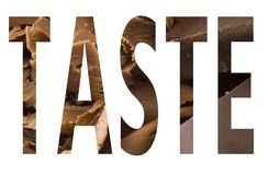 Taste in the symbol Royalty Free Stock Images