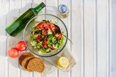 Taste of vegetarian summer concept, salad Royalty Free Stock Photos