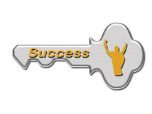 Taste zum Erfolg Stockfotografie