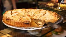 Tasted apple pie Stock Photos