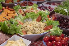 Tasted food and salads Royalty Free Stock Photo