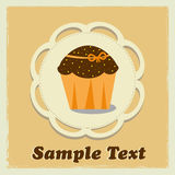 Tasteful cupcake with designed space for your text Stock Photography