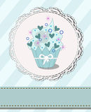 Tasteful cupcake with designed space for your text. Vector illustration of cupcake with hearts Stock Photography