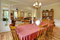 Tasteful dining and livingroom. With wood furniture Stock Photo