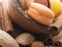 Tasteful macaroons with hazelnuts and almonds Stock Image