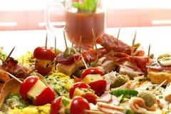 tastefully аранжированная закуска Стоковые Фото