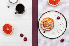 Tastefully designed early morning meal Royalty Free Stock Image