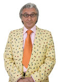 Tasteless. Mature man wearing eccentric clothes Stock Photo