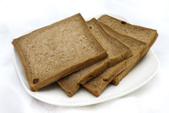 Tasteless chocolate bread. Suited for people in sugar diet Stock Photography