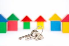 Tasten auf dem Haushintergrund Lizenzfreies Stockfoto