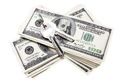 Tasten auf den zwei Stapeln der Dollar Lizenzfreie Stockfotografie