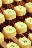 Tasten auf einer Schreibmaschine Lizenzfreies Stockbild