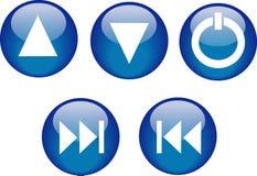 Tasten-CD-Player-Blau Lizenzfreie Stockbilder