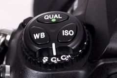 Tasten der Digitalkamera DSLR drei Stockbild